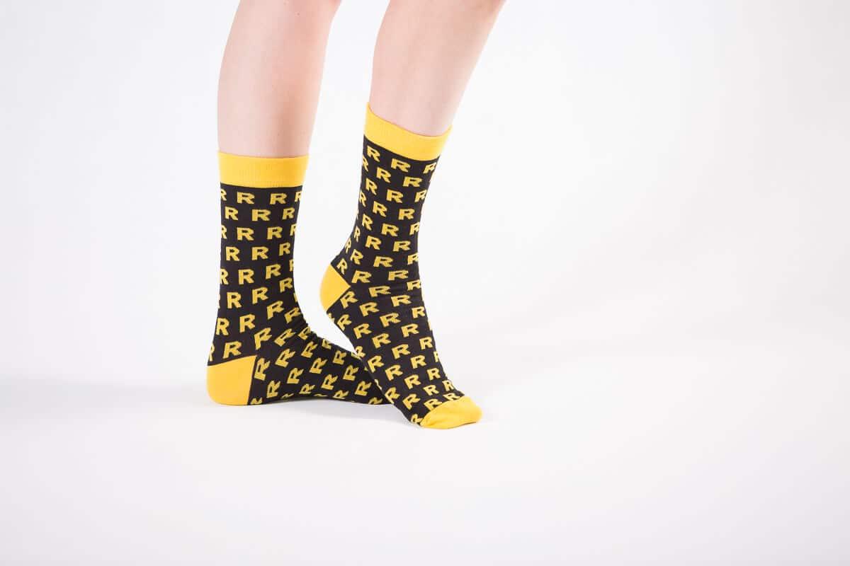 reprezentuj skarpety żółte bawełniane ze wzorem sklep