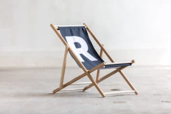 czarny składany leżak R