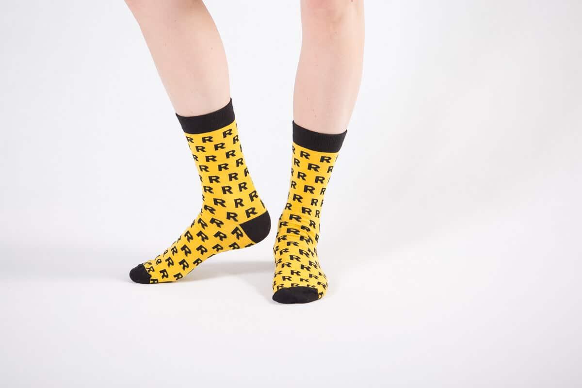 reprezentuj skarpety bawełna żółte ze wzorem sklep