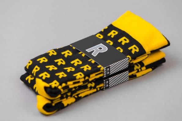 skarpety R czarne żółte komplet